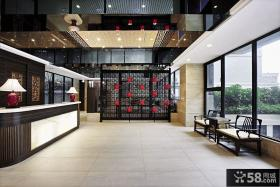 现代中式别墅大厅装修效果图
