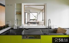 现代简约复式室内厨房家居设计效果图