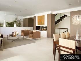 复式楼现代时尚的客厅装修效果图大全2014图片