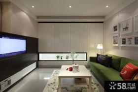 89平现代简约三房客厅装修案例