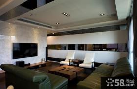 现代设计客厅电视背景墙图