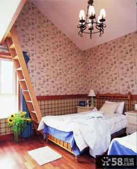 诺仁庄园复式楼卧室装修效果图大全2014图片