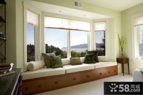 客厅带阳台飘窗装修