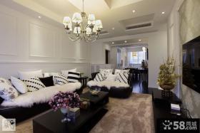 现代家装小复式客厅装修效果图