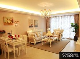 欧式田园风格客厅沙发装修效果图