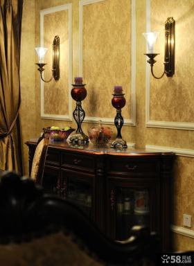 美式新古典风格餐边柜效果图
