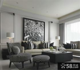 后现代风格三室两厅设计图片