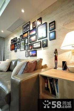 客厅墙壁装饰照片墙效果图