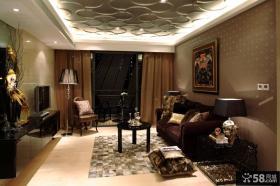 家装客厅瓷砖电视背景墙装修效果图