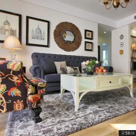 84平美式休闲三居装修案例