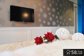 卧室壁纸电视背景墙效果图