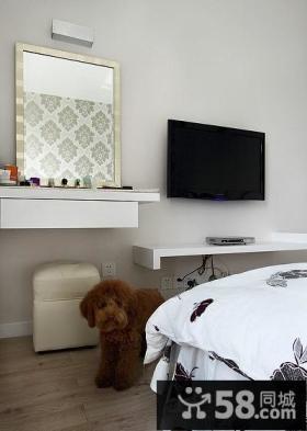 简约时尚设计卧室电视背景墙图片大全
