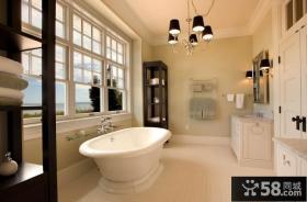美式田园风格家装卫生间图片