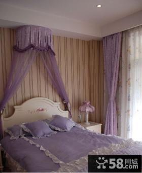 欧式卧室现代条纹墙纸贴图图片
