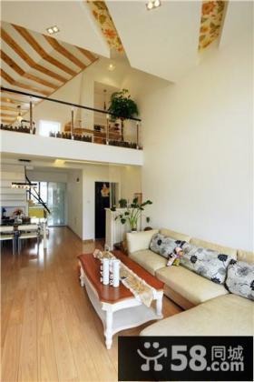 现代田园风复式家居装修设计