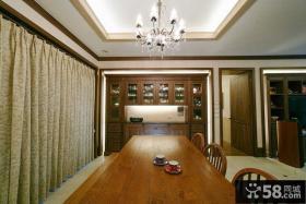 美式餐厅家庭装修设计效果图