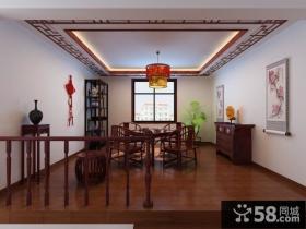 餐厅酒柜设计图 花瓣大吊顶装修效果图