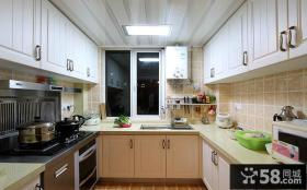 U型厨房简欧橱柜效果图