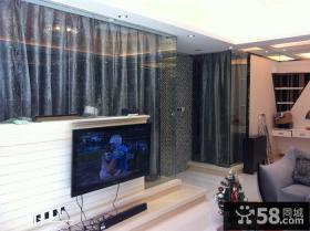 现代简约式客厅电视背景墙图片