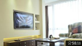 美式风格两室一厅客厅电视背景墙装修