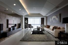 150平米四居室现代风格装修效果图片