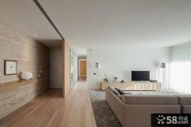 现代简约风格客厅电视背景墙隔断效果图