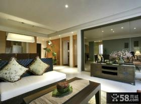 中式风格客厅布艺沙发效果图