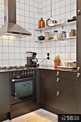 50平小户型厨房装修效果图大全2012