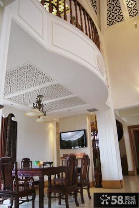 复式豪华别墅餐厅设计图