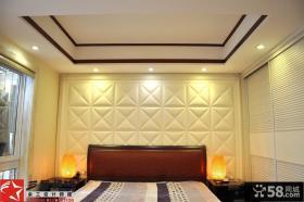 中式家居风格卧室背景墙装修图片欣赏
