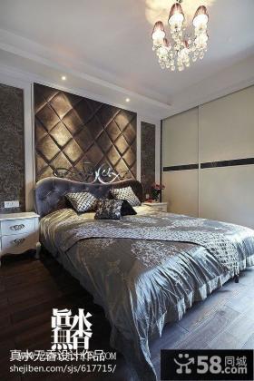 卧室床头软包背景墙效果图图片