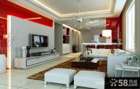 婚房设计客厅电视背景墙装修效果图