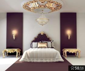 欧式豪华卧室装修设计效果图 欧式卧室吊顶装修图片