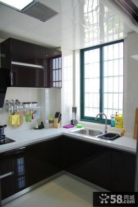 现代风格L型厨房橱柜装修效果图片欣赏
