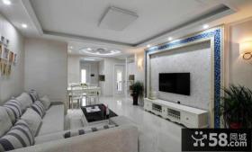 家庭精装修优质客厅电视背景墙效果图
