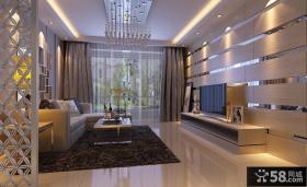 现代客厅电视背景墙装修设计图