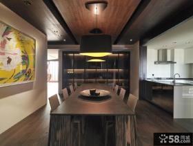 家庭室内精装修餐厅吊顶图片