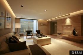 日式简约大户型客厅装修效果图