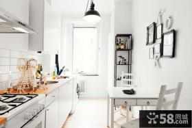 复式楼北欧风格厨房橱柜装修效果图大全2014图片
