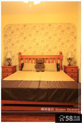 卧室床头壁纸背景墙效果图欣赏