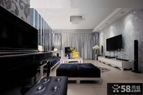新古典风格客厅电视背景墙效果图欣赏