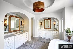 简易风格复式卫生间图欣赏大全