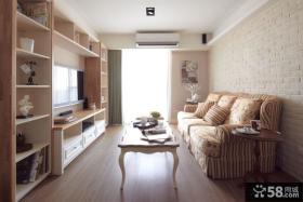 乡村田园风格家庭装修客厅电视背景墙图片