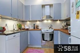 80㎡小户型北欧清新的厨房装修效果图大全2014图片