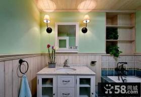 简欧风格复式设计室内卫生间效果图