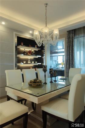 现代家居两室两厅精装修餐厅效果图片