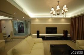 简欧风格客厅电视背景墙装修效果图片