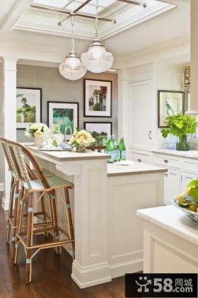 简欧清新的小户型厨房装修效果图大全2012图片