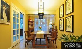 简欧复古餐厅装饰室内设计效果图