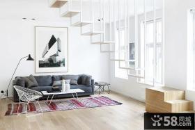 极简主义简单装修复式楼客厅效果图